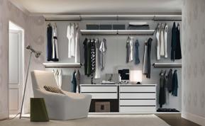 SCENARIO walk in wardrobe in SATIN WHITE