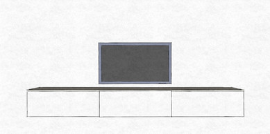 D37 simple linear white media storage