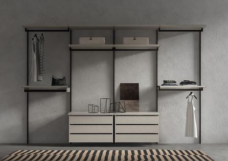 NAKED walk in wardrobe wall storage