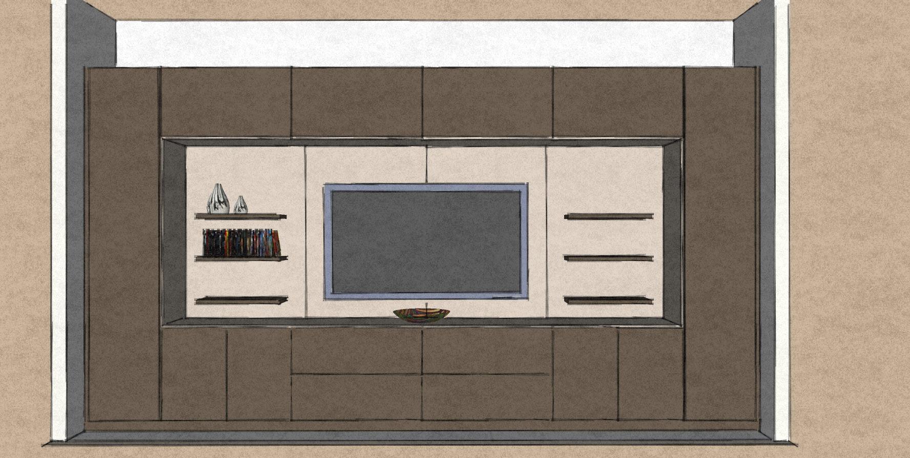 D33 living room media wall and display cabinet matt lacquers.jpg