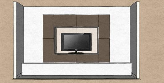 D34 cinema room wall hung square configuration in matt lacquer
