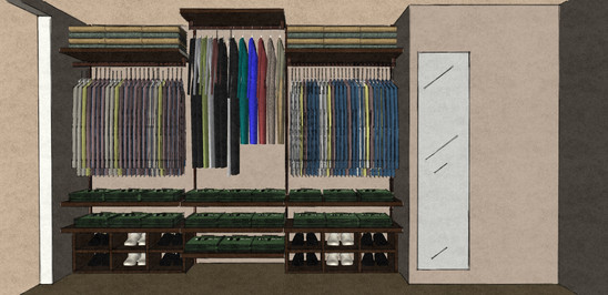 D48 NAKED walk in wardrobe design
