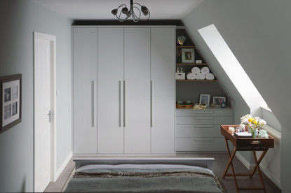 kindred wardrobes Parity Gloss  Dove Grey