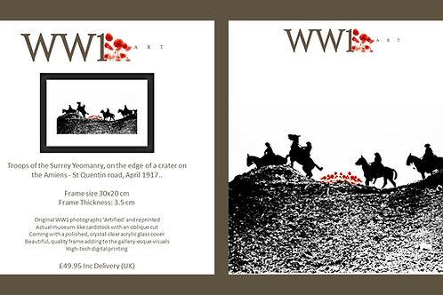 WW1 Art framed digital print