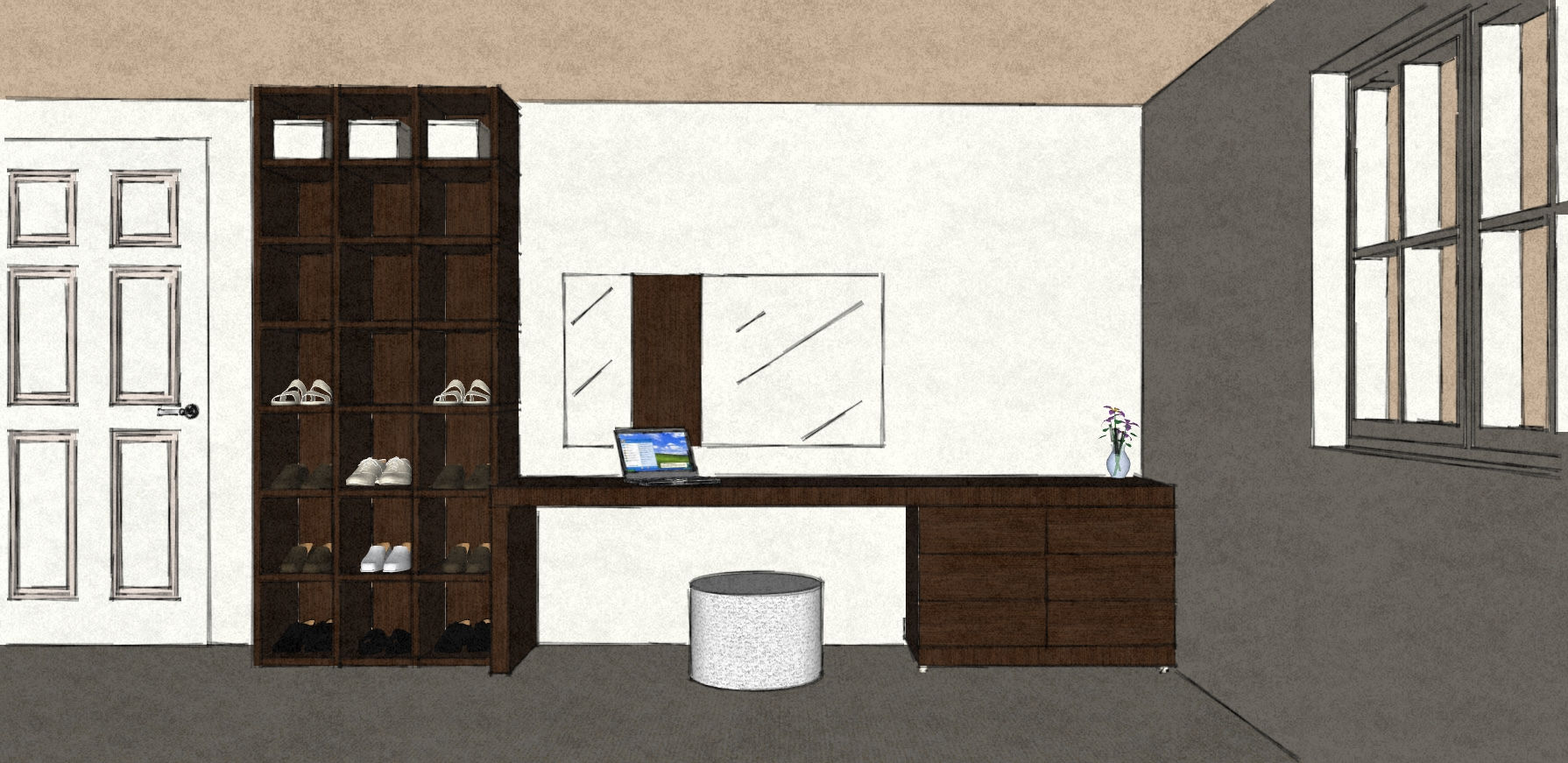 D45 dressing table and bookcase - shelves.jpg