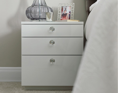 Kindred 3 drawer modern bedside
