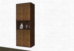 D30 Bathroom hanging cabinet with bronzo metal lacquer doors