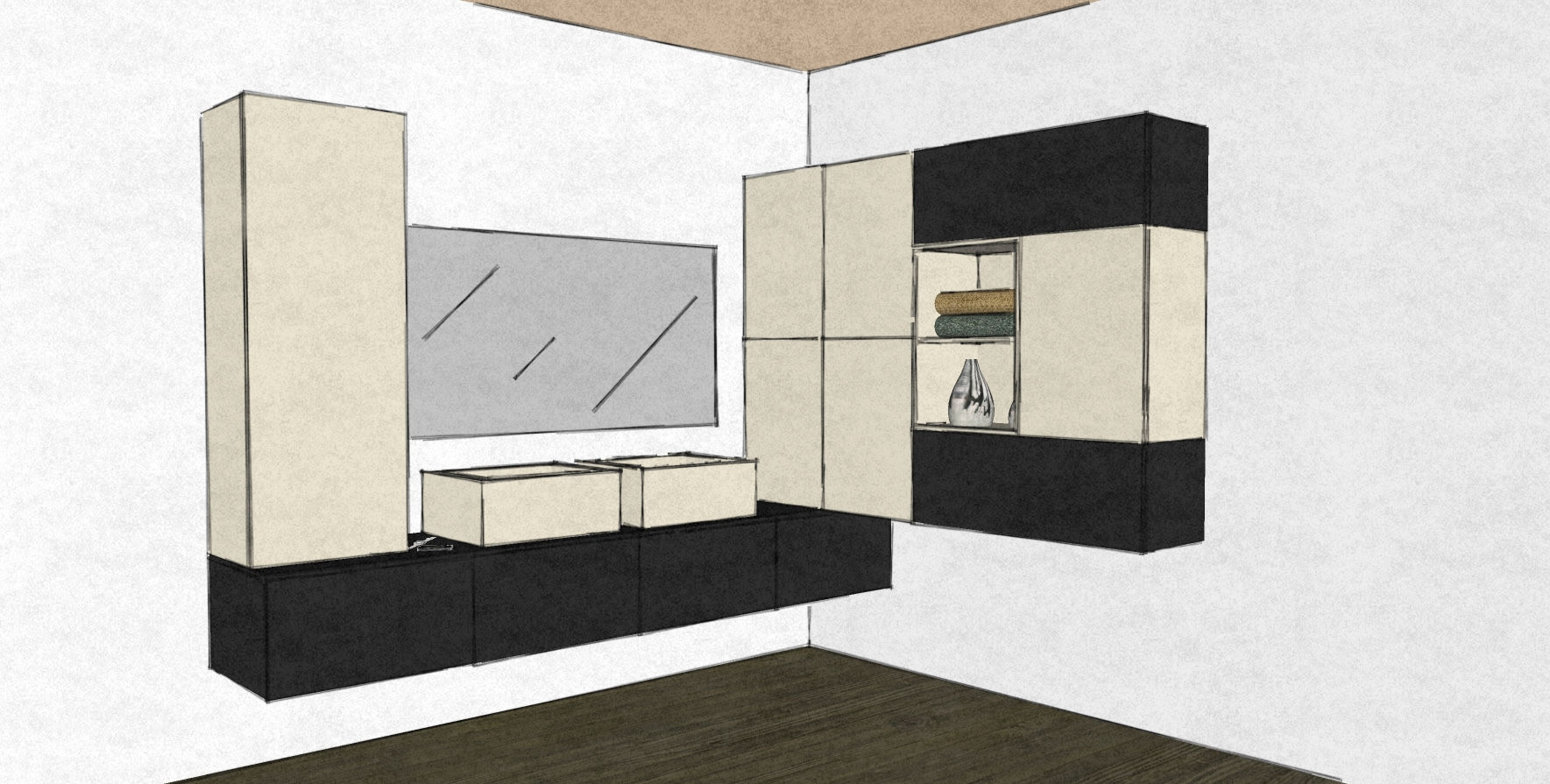D35 bathroom design wall hung cabinets black and white.jpg