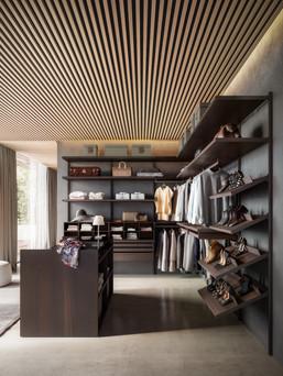NAKED open style walk in wardrobe