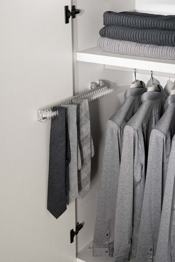 Jesse internal pull out tie rack