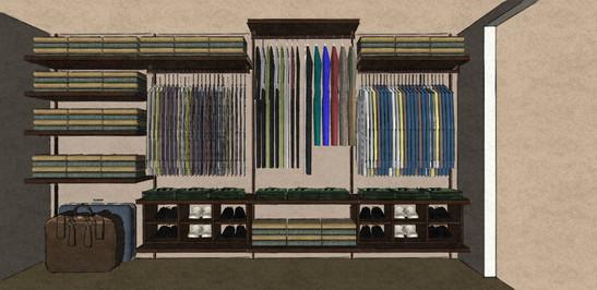 D49 NAKED walk in wardrobe design