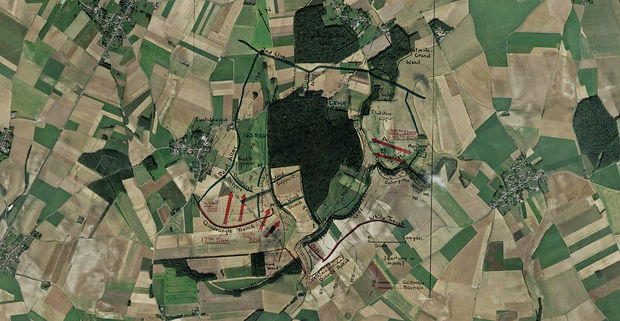 Mametz WW1 map overlay 7th July 1916