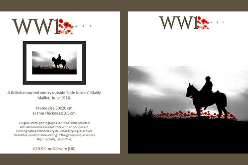 WW1 Art framed digital print
