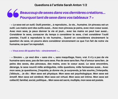Sexe? (2/2), Sarah Anton