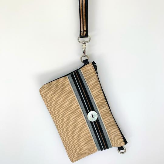 Handmade Wristlet Clutch, Noosa Sustainable Fashion Label