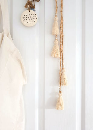 Timber Bead Door Tassel - Jacinta Emms Handmade