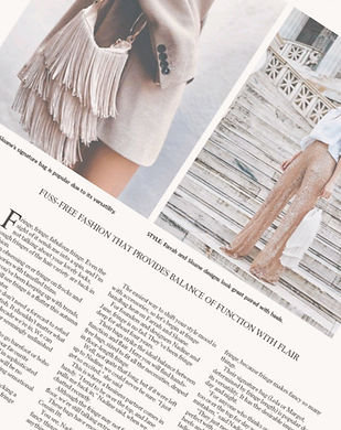 Sunshine Coast Daily Fashion Column words by Jacinta Emms
