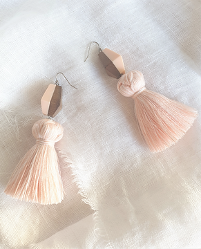 Handmade Recycled Tassle Earrings by Jacinta Emms