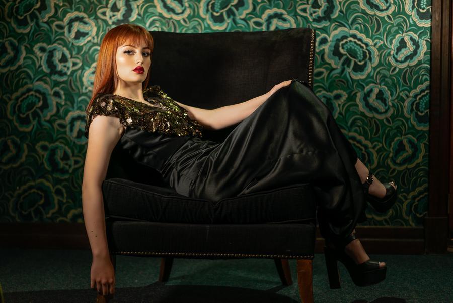 Shimmering Evening Dress Kortni Portia