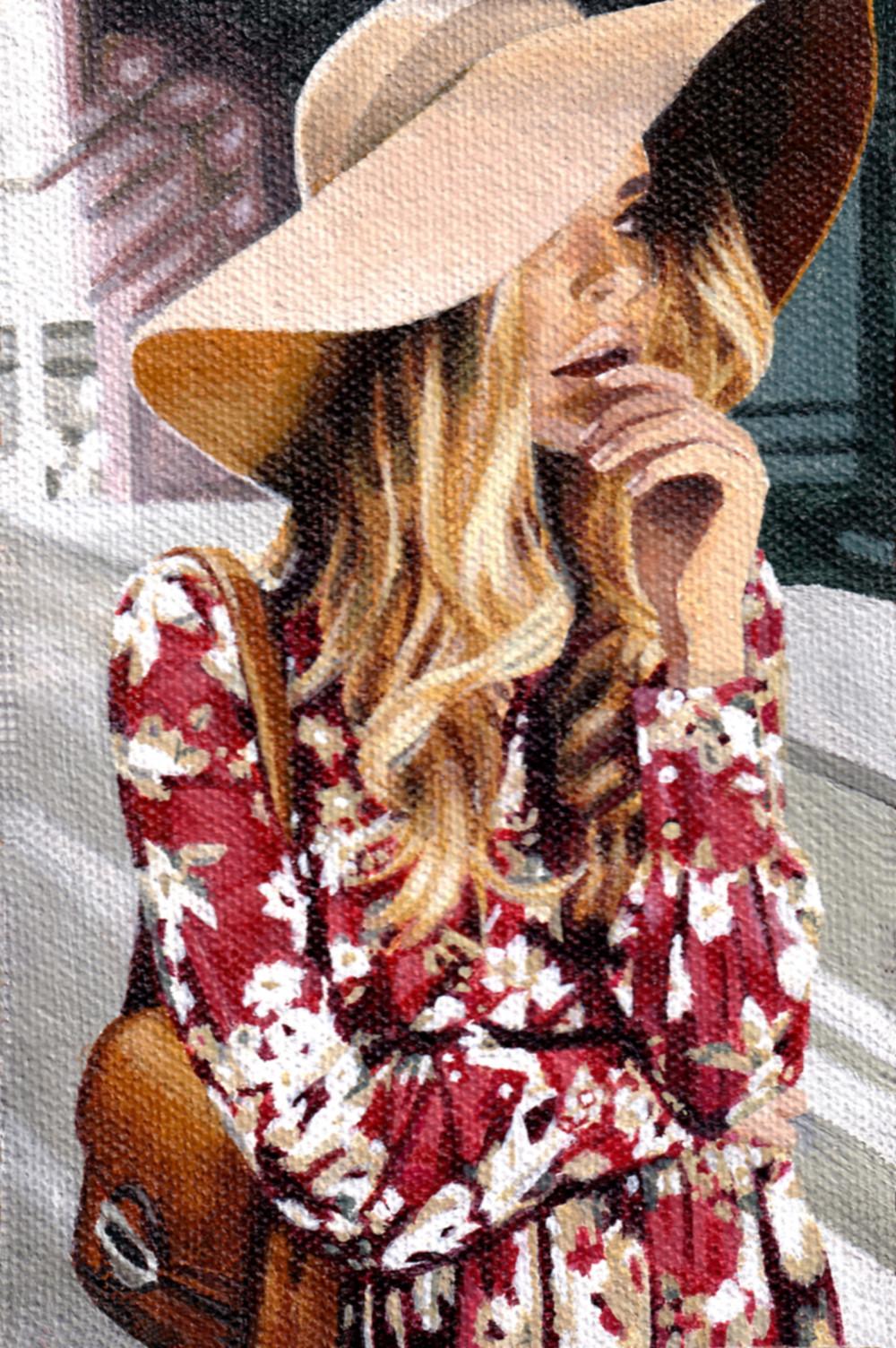 Fashion art, blonde woman lost in the city, jennie rutz, jacinta emms