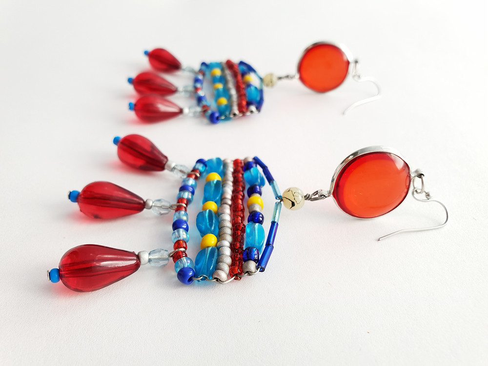 Handmade Recycled Earrings by JAcinta Emms