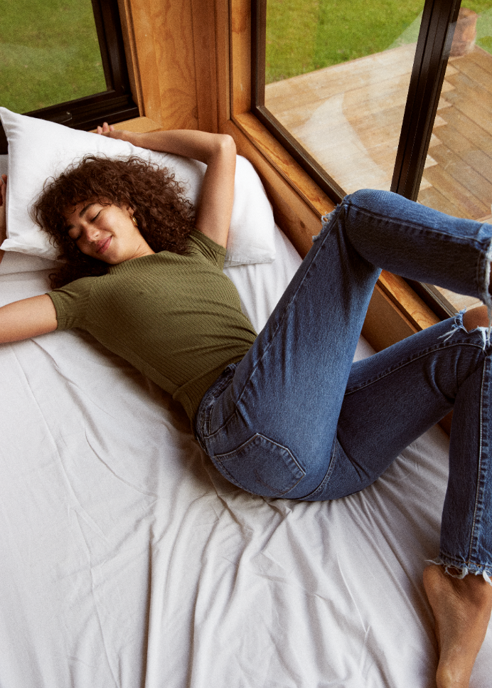 Frankie Jean Ankle Rally with Luxe Rib Tee
