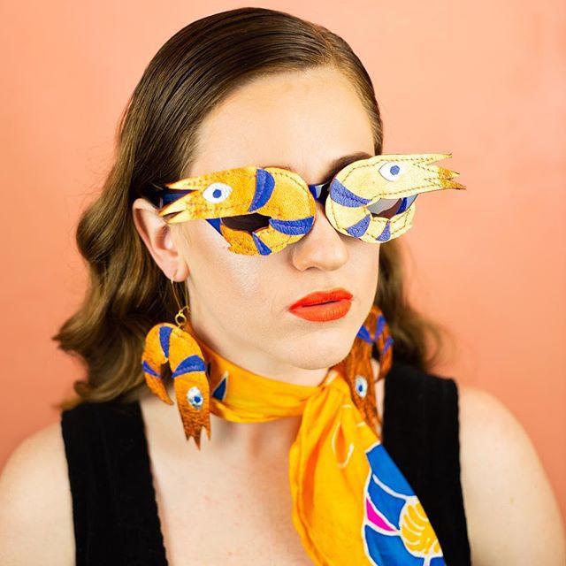 Prawn Earrings and Prawn Sunglasses Ethical Fashion
