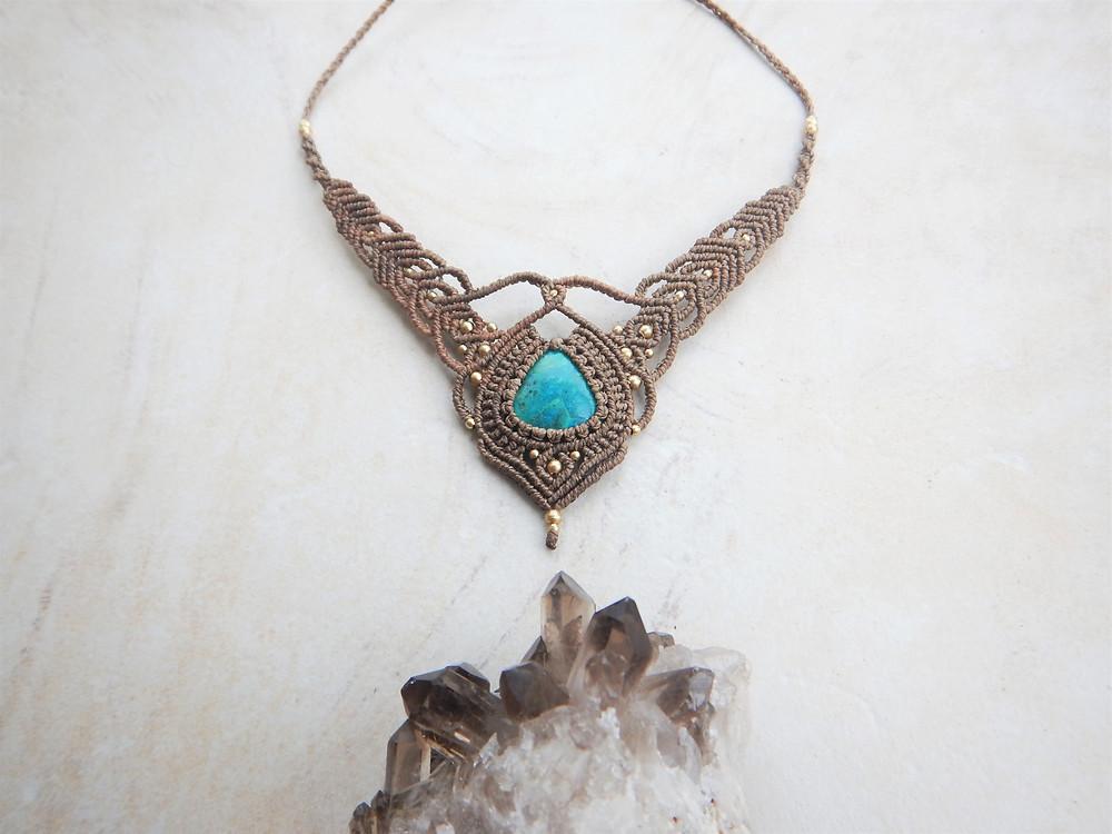 Micro Macrame Necklace, Sunshine Coast Designer. Australian Designer