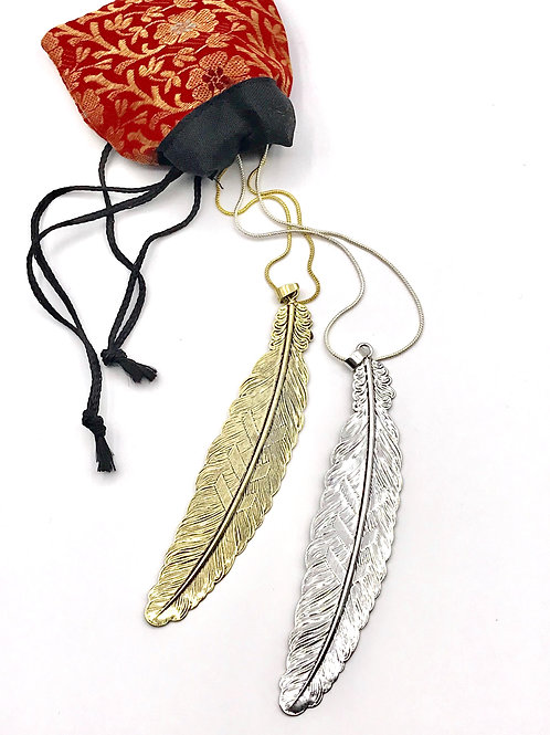"Collier ""Long Feather"""
