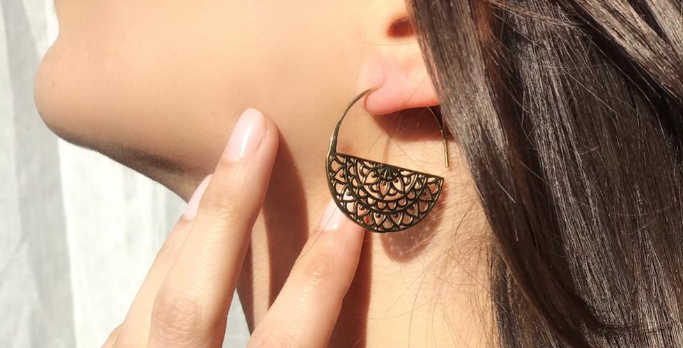 bijoux boucles d'oreille HINDIBAZAAR
