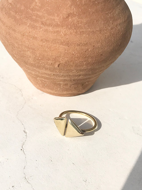"Bague ""2 Triangles"""
