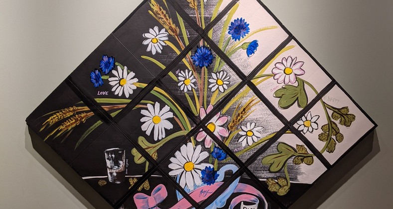 Beer & Flowers, outlined