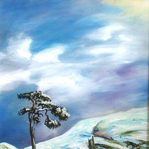 Lone Tree (Oil on Canvas).JPG