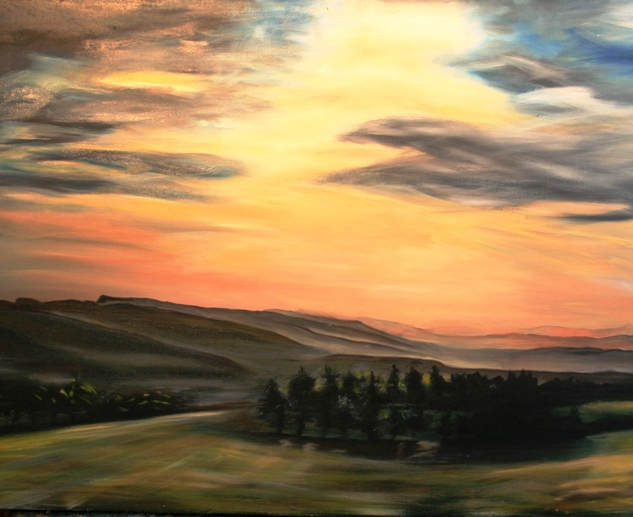 late afternoon light (Oil on Canvas).JPG