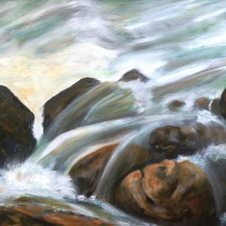 fast flow 2 (Oil on Canvas).JPG