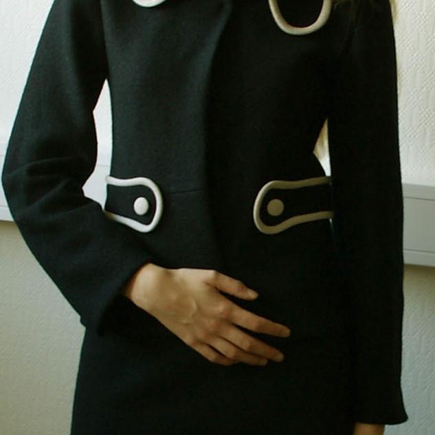 Mary jakke og skjørt mørk blå
