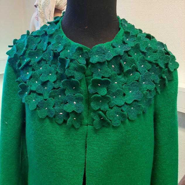 Klæver kåpe grønn