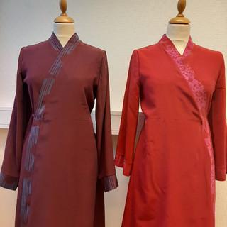 To omslagskjoler i silke