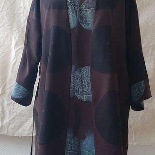 Kimono i silke med trykk