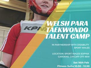 Welsh Para Taekwondo Talent Camp 2019