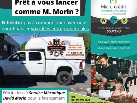 Nouveau financement dans Bellechasse-Etchemins!