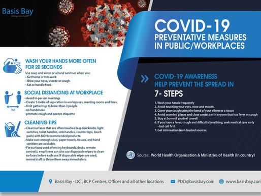 Basis Bay's COVID-19 Preventative Measures