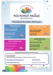 planning MON MOMENT MAGIQUE nov 19 - jui