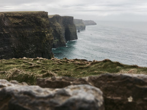 Long view of the Cliffs of Moher, Ireland