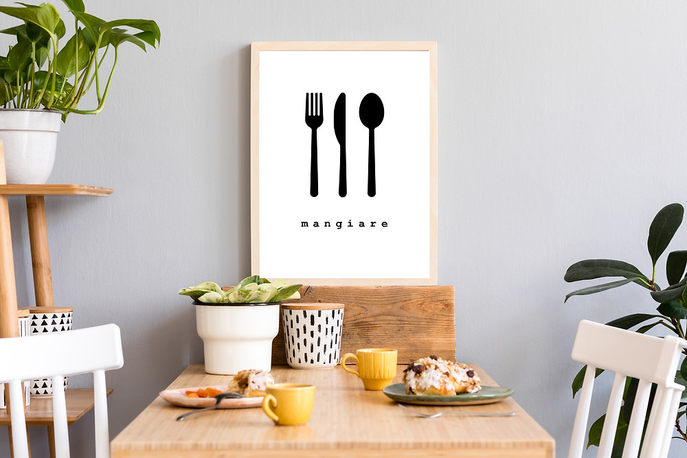 Mangiare Poster in various sizes as an instant download for $5.99