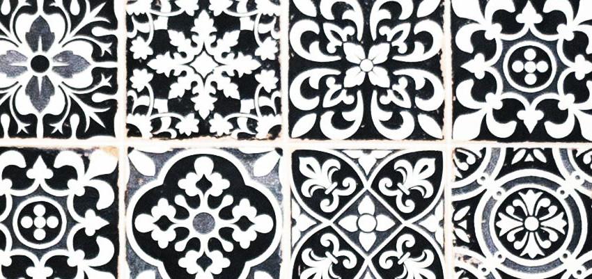 Black and White tile work