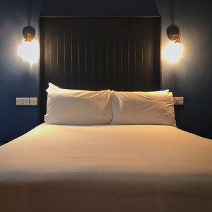 A plush, comfortable bed for a quiet night at The Continental Hotel in Galway, Ireland