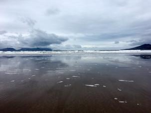 The ocean meeting the sky on Inch Beach, Ireland