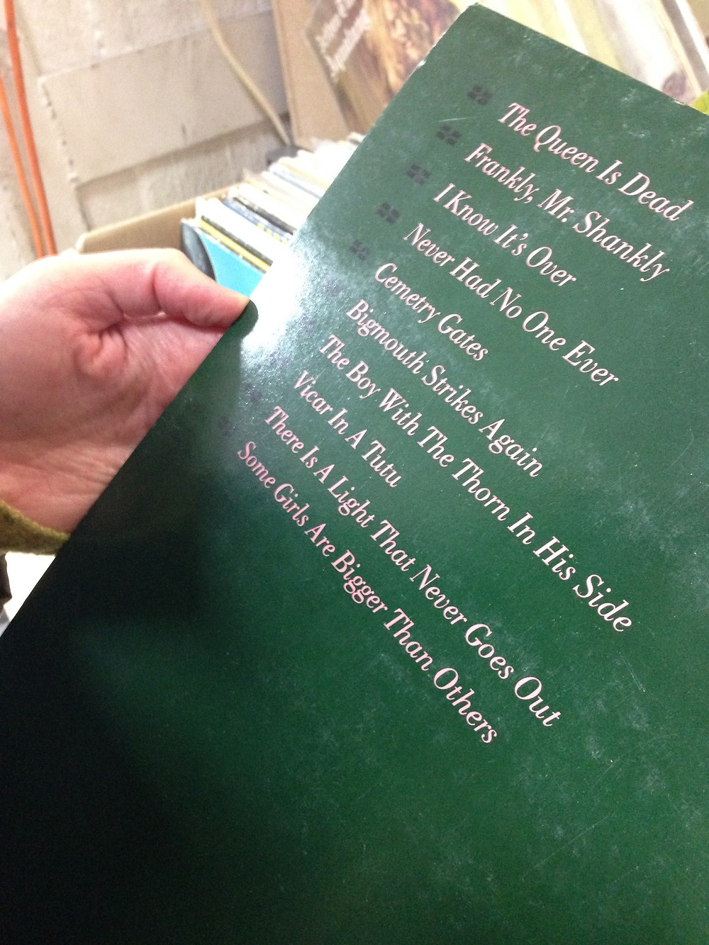 Back of record cover, The Queen is Dead by The Smiths