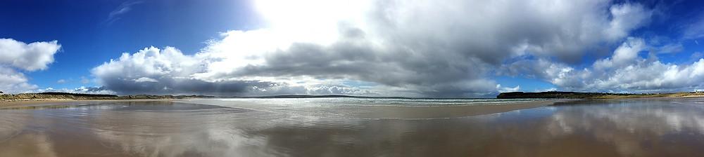 Empty beach at low tide, Dunnet Beach, Scotland